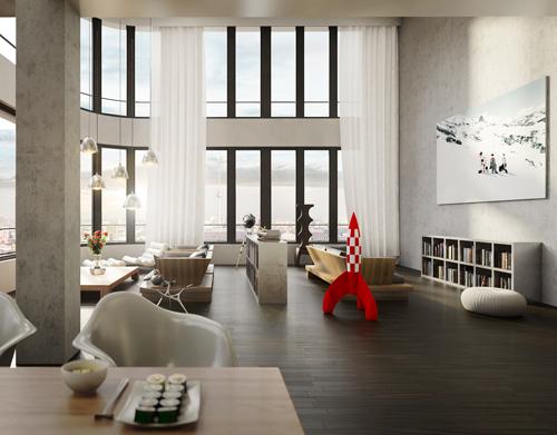 Loft Architektur architekturrenderings als high end visualisierung